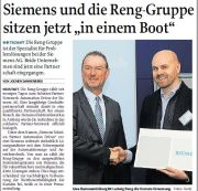 RENG Gruppe ist Siemens Solution-Partner Automation Drives