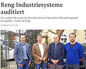 Reng-Industriesysteme auditiert